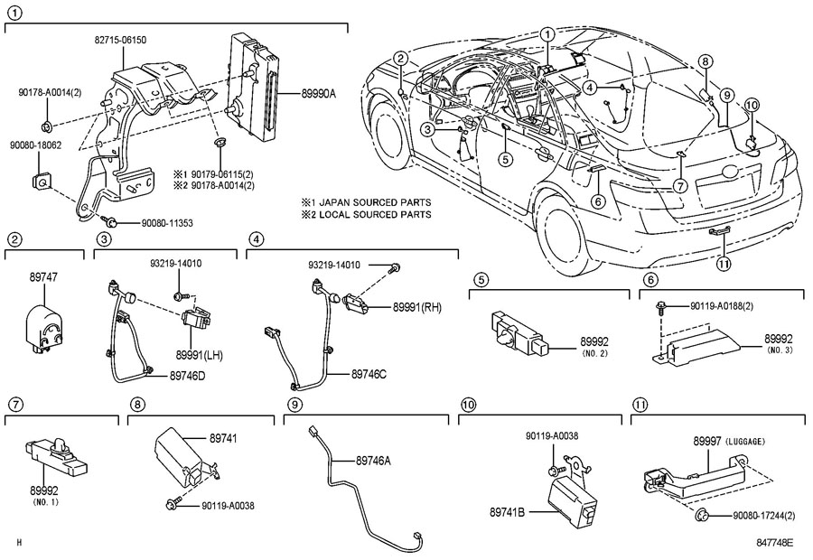 TOYOTA CAMRY Receiver assembly, smart. Receiver, control