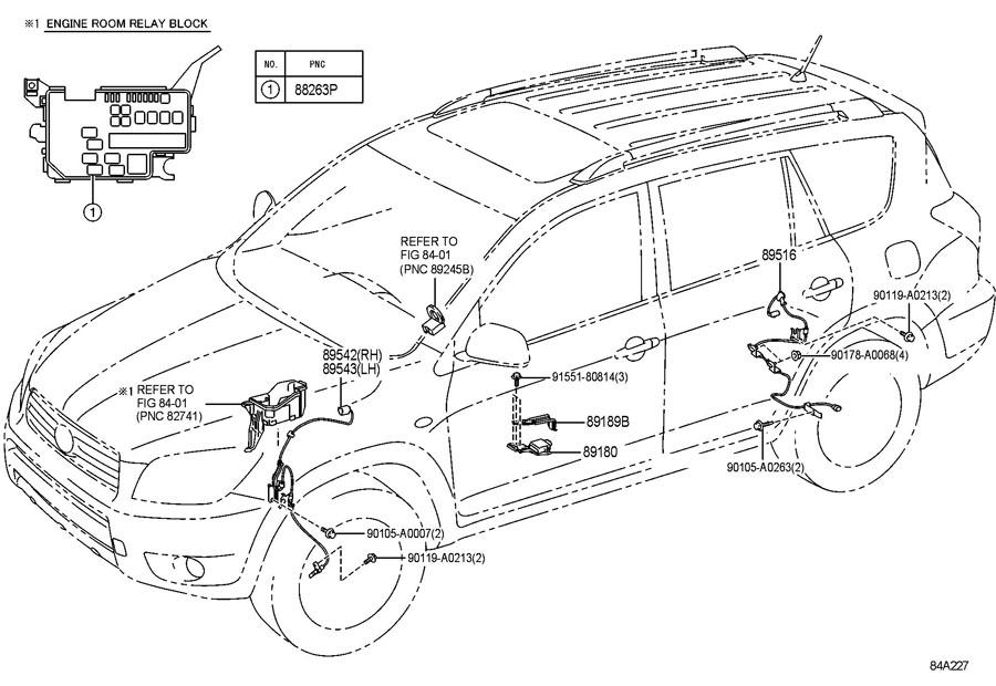 2009 Scion TC Bolt. Sensor. ABS. (Rear, Upper