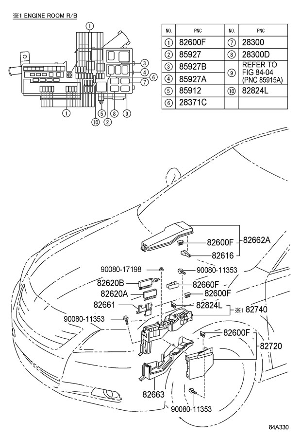 2010 TOYOTA CAMRY Relay assy (for heater blower motor