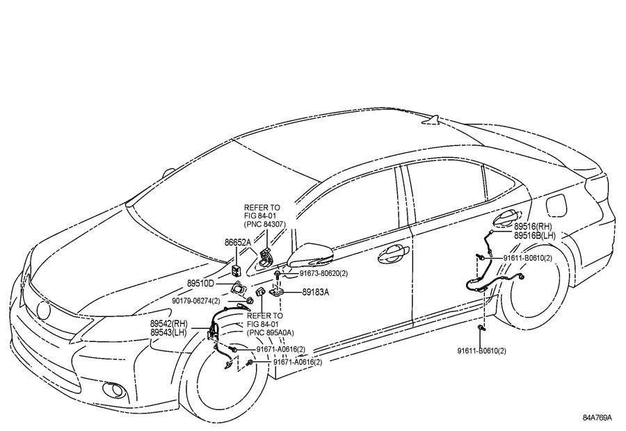 2005 TOYOTA PRIUS Sensor assy, brake pedal stroke