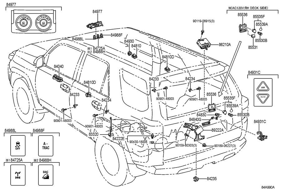 2005 Toyota 4 Runner Parts Diagram