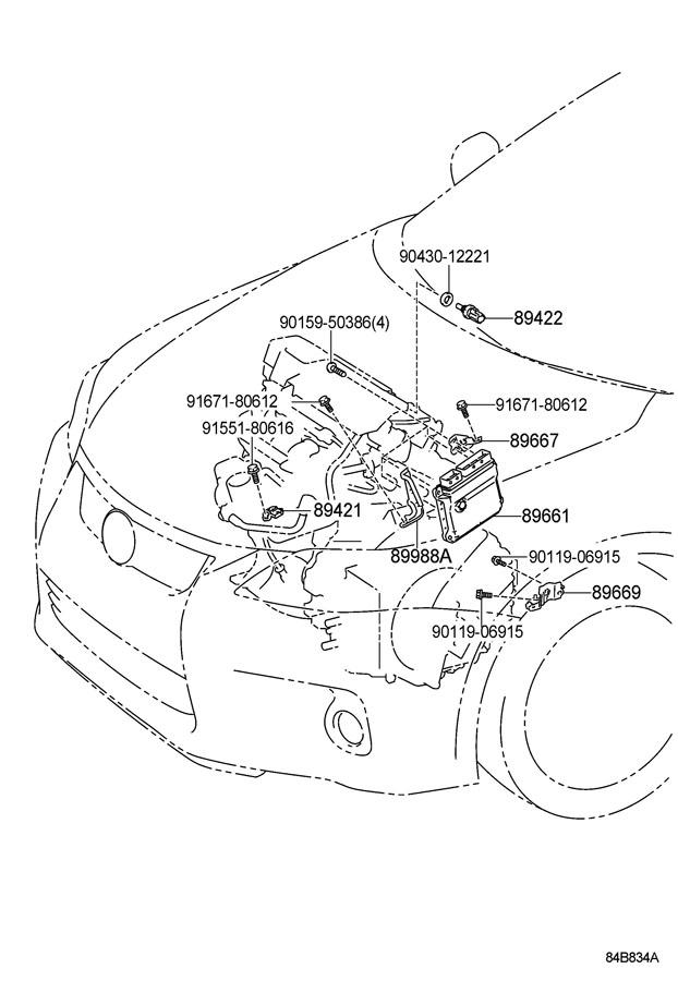 2012 Scion XD Bolt, flange w/washe. Regulatormount, frt