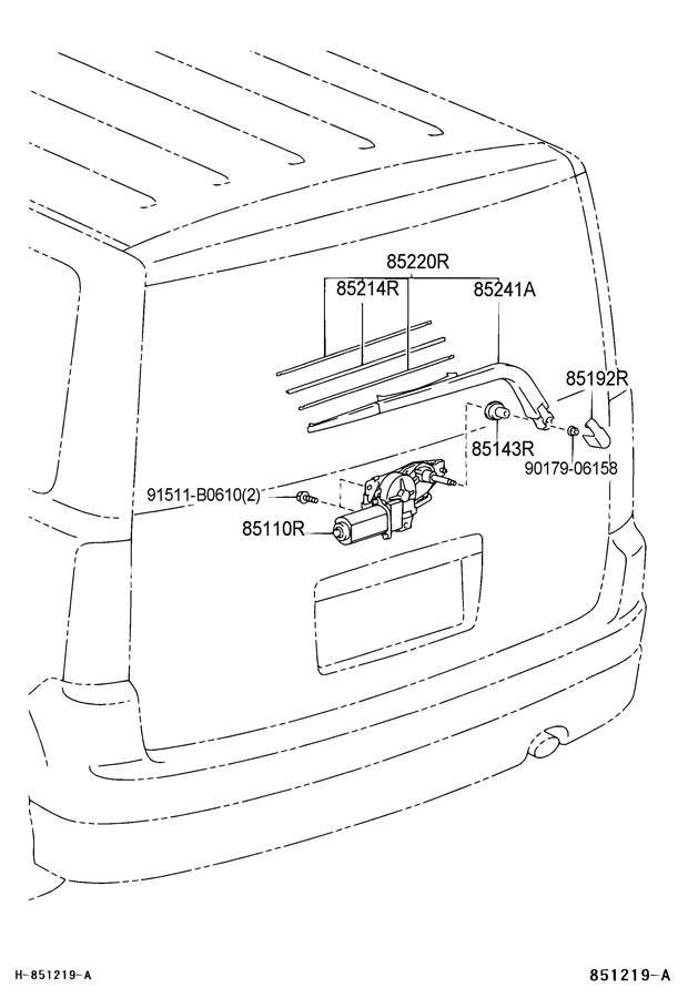 2005 Scion XB Blade assy, rear wiper. Arm & blade assy, rr