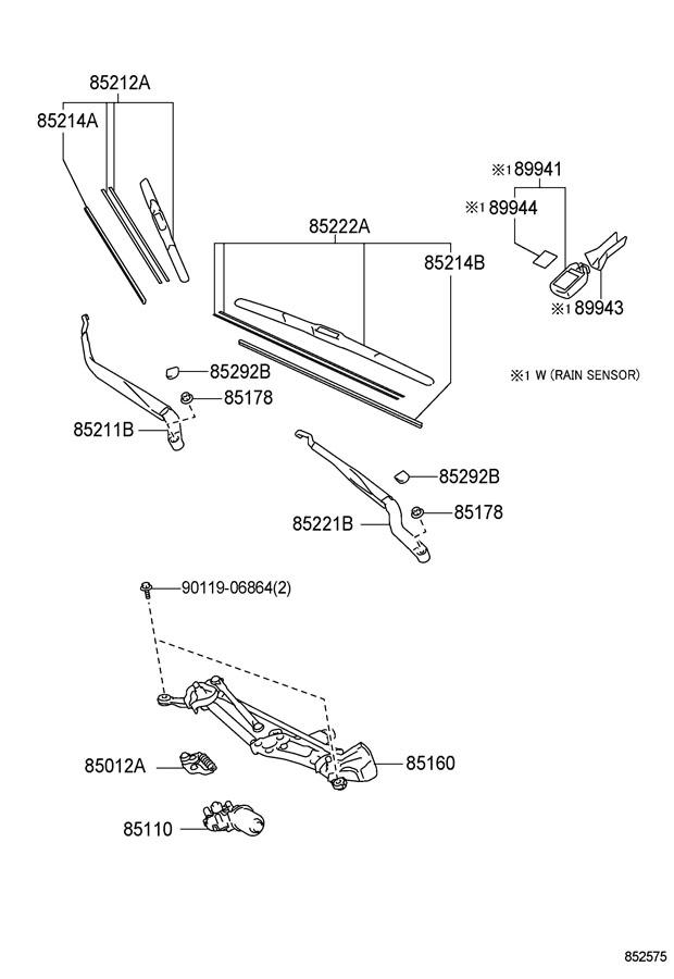 2010 TOYOTA PRIUS Rubber, wiper, lh. Rubber, wiper blade