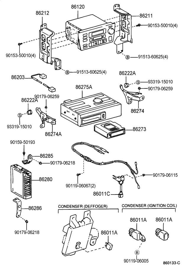 TOYOTA T100 Condenser; condenser, radio setting; filter
