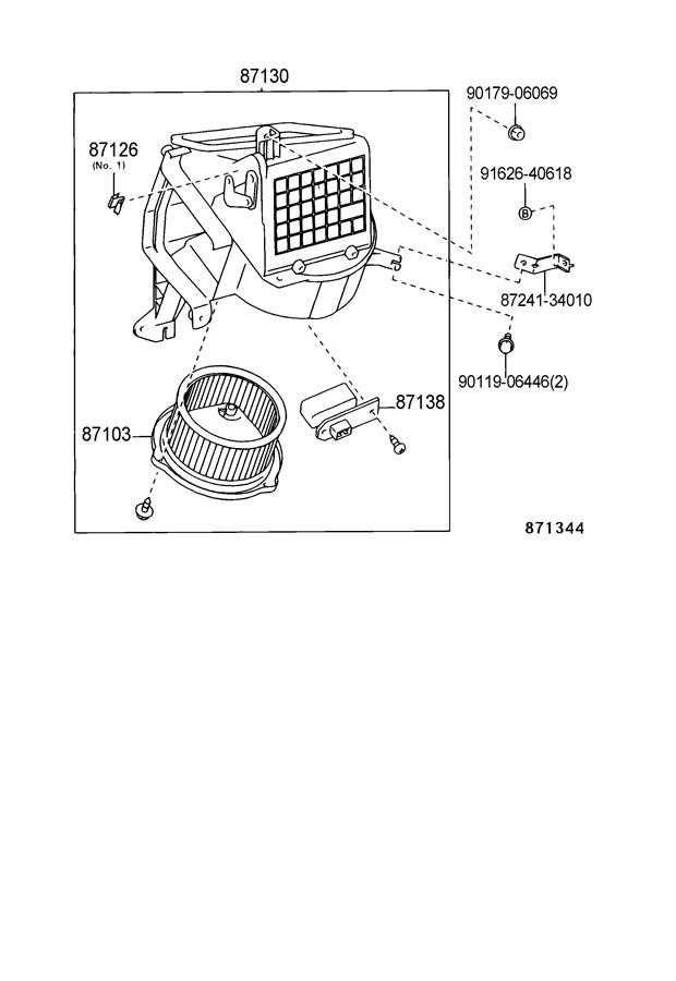 1997 TOYOTA T100 Resistor, heater blower. Resistor, blower