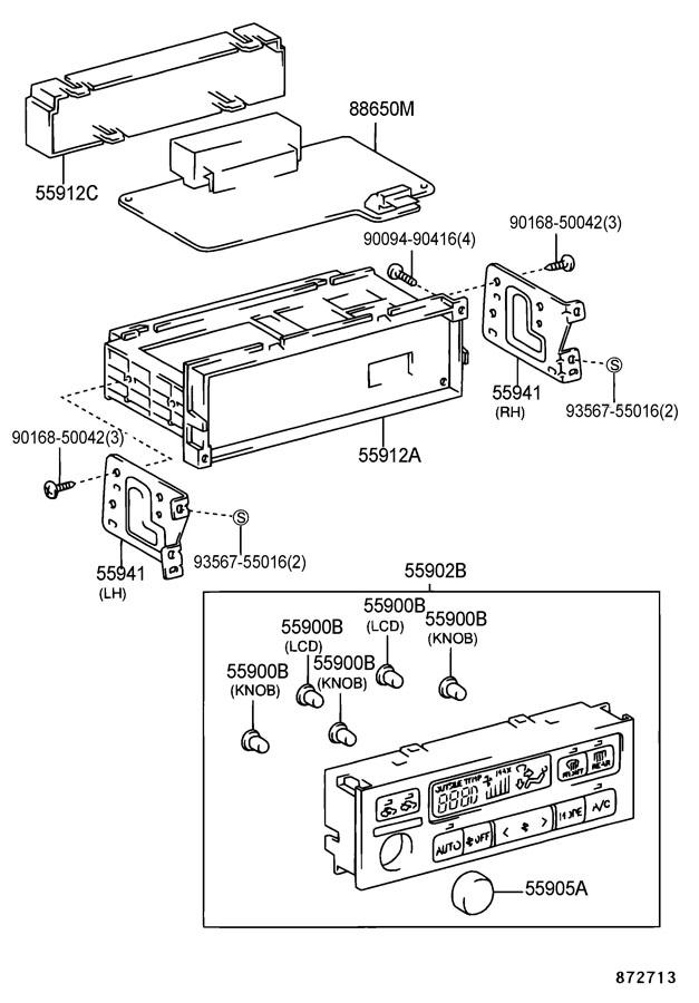 2001 TOYOTA CAMRY Knob, heater control; knob, heater