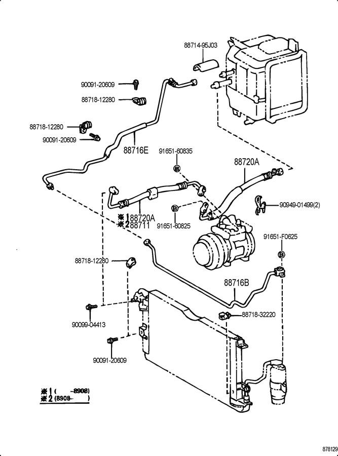 1992 TOYOTA 4RUNNER Pipe, cooler refrigerant liquid, e