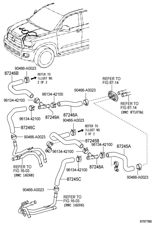 TOYOTA SEQUOIA Hose, heater water, inlet c. Hose, water