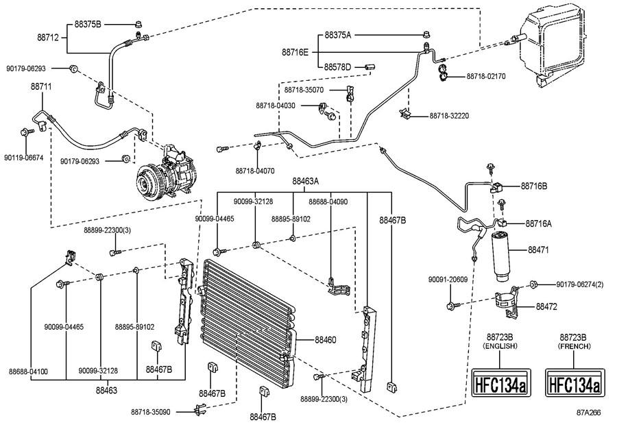 1996 TOYOTA TACOMA Pipe, cooler refrigerant liquid, a