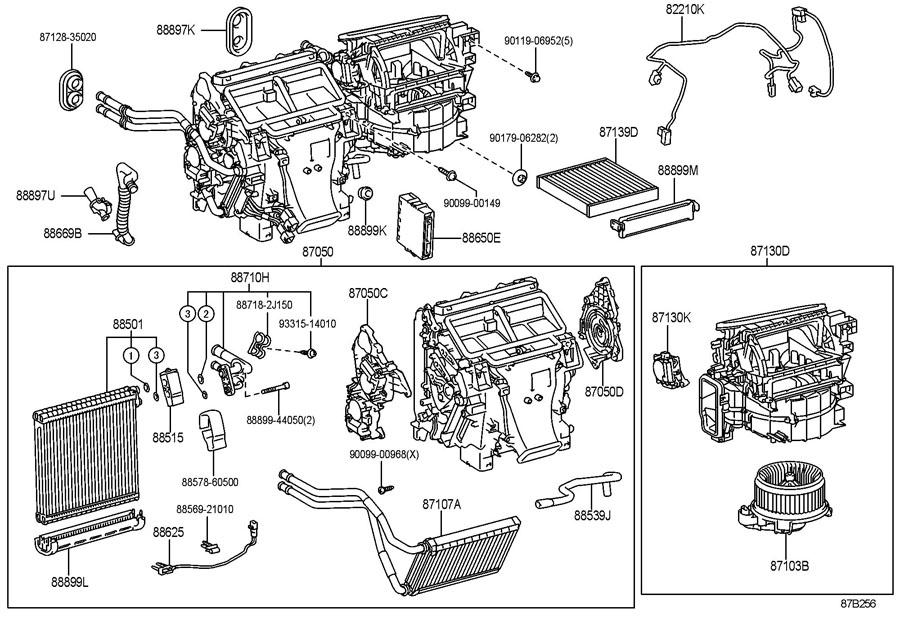 2011 TOYOTA CAMRY Hvac air adjustment control motor. Front