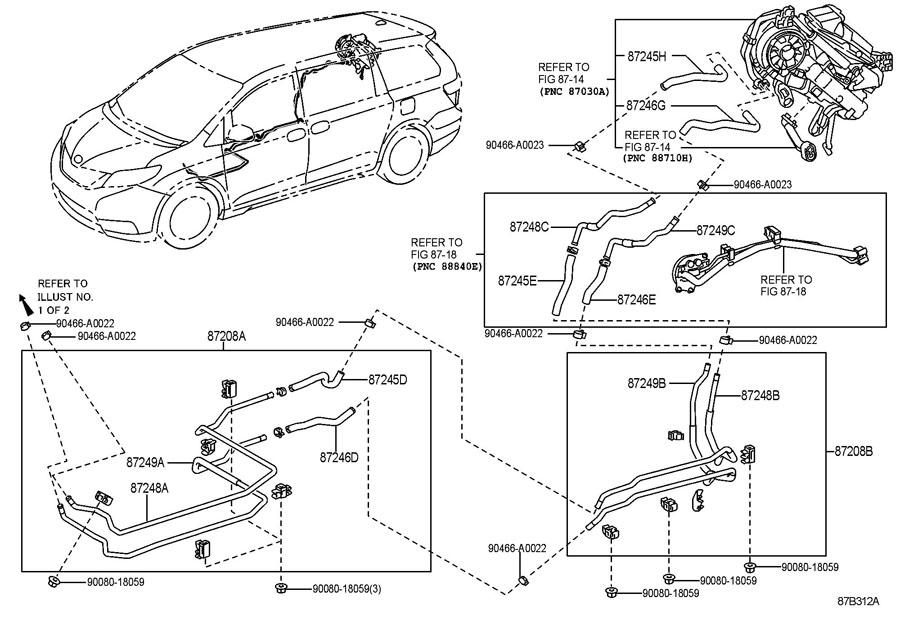 2013 TOYOTA Pipe sub-assy, heater water, a. Pipe sub-assy