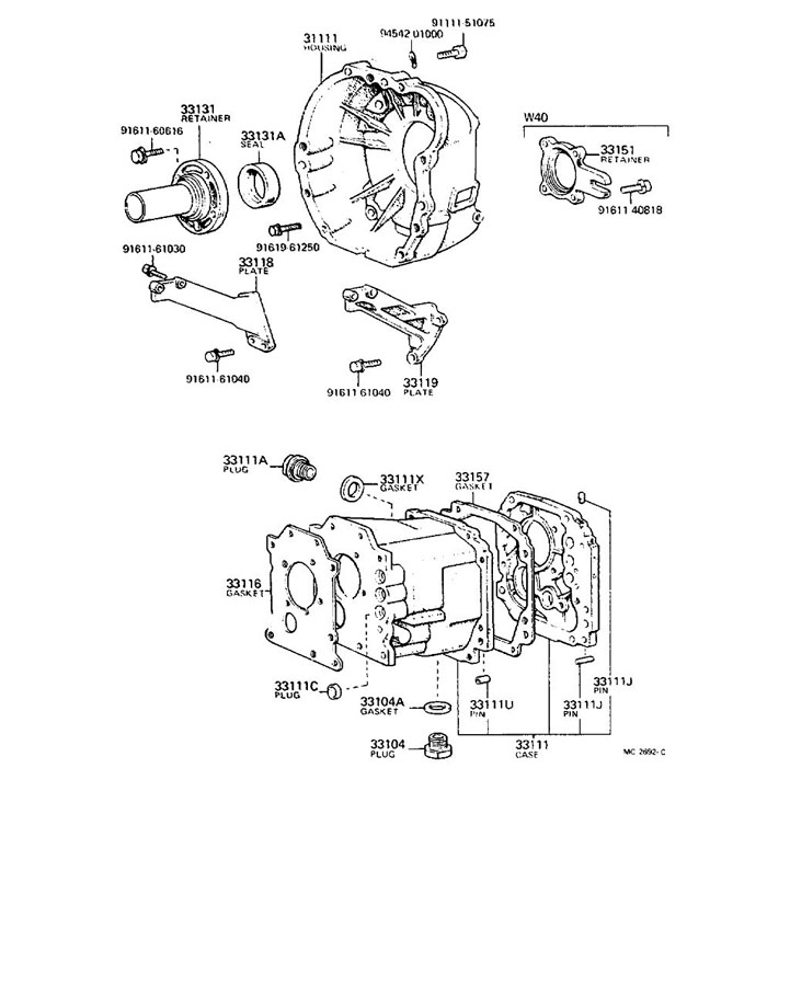 TOYOTA TACOMA Plug (for front differential drain); plug