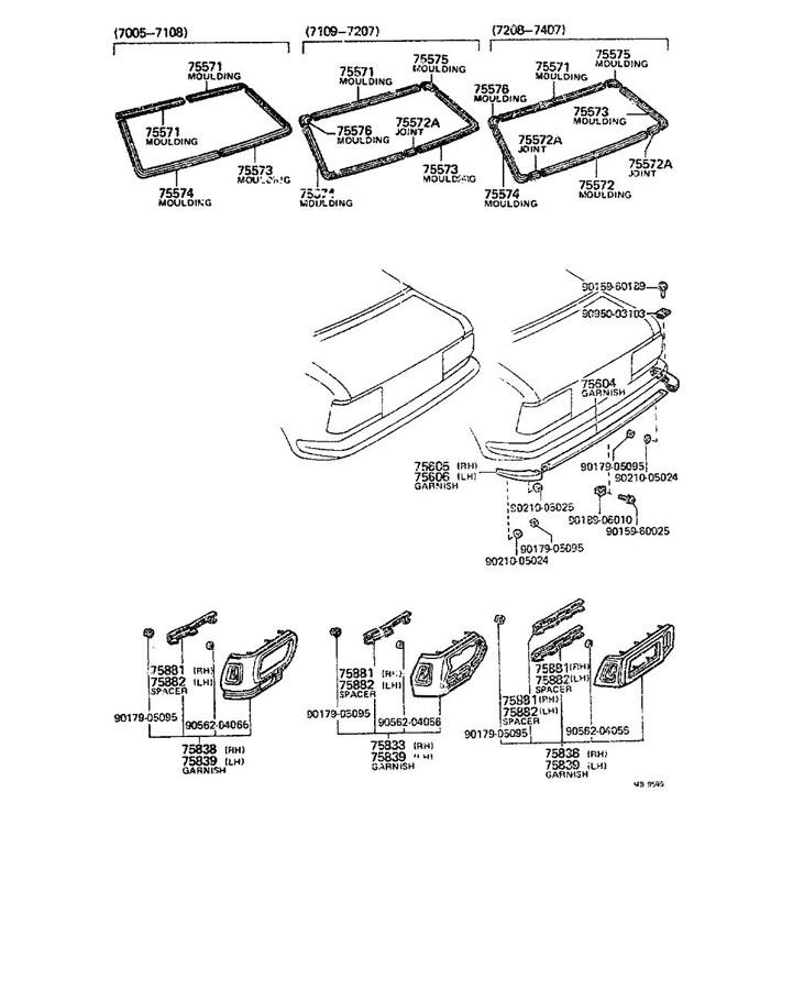 1997 TOYOTA T100 Clip(for door lock remote control); clip