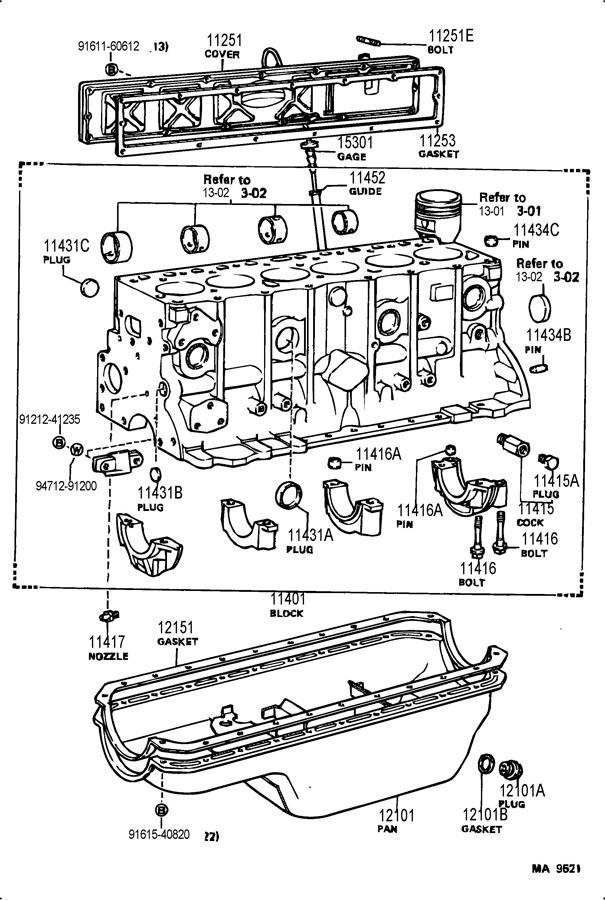 TOYOTA LAND CRUISER Plug, radiator drain cock; plug, water