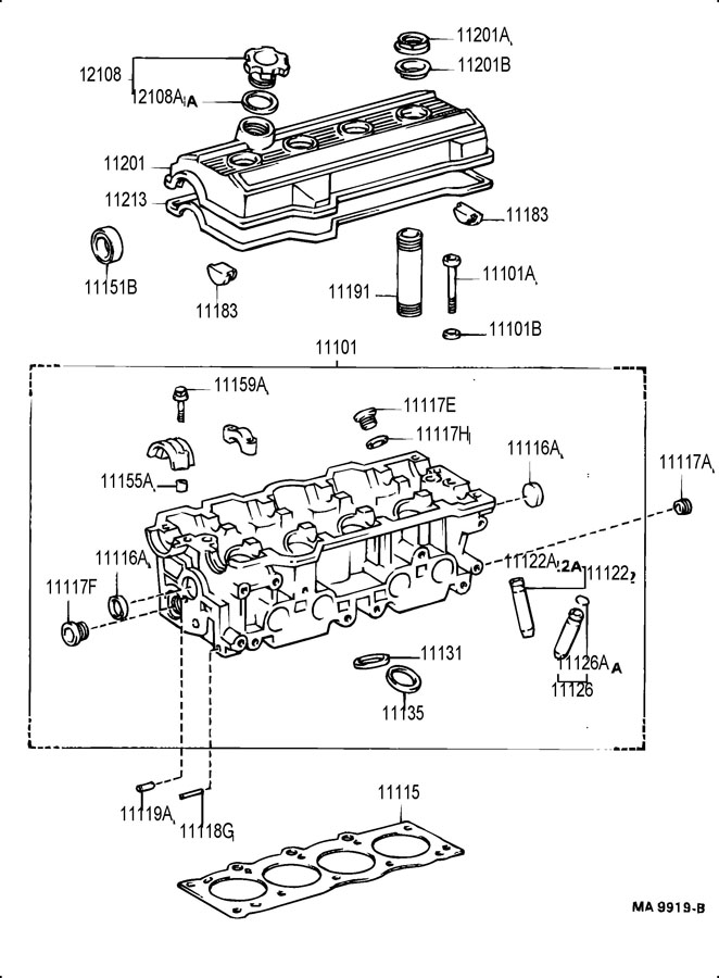 TOYOTA CELICA Bush, exhaust valve guide; bush, intake