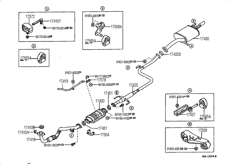 2000 Chevy Tracker Exhaust System Diagram. Chevy. Engine
