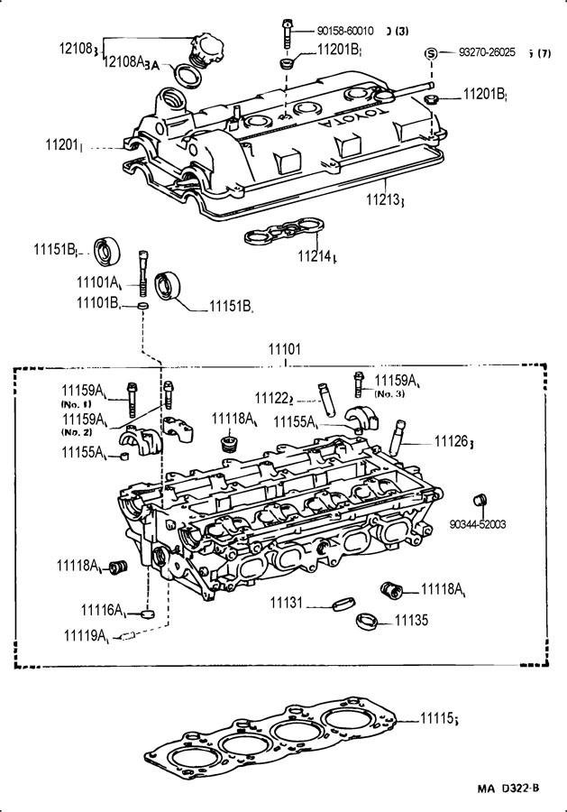 TOYOTA MR2 Engine Cylinder Head. Engine Cylinder Head