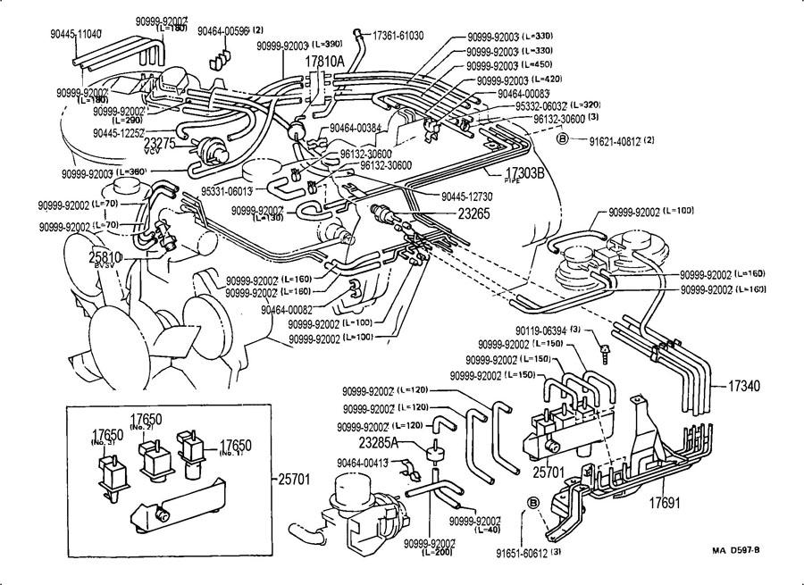 91 Toyota Land Cruiser Vacuum Diagram. Toyota. Auto Wiring