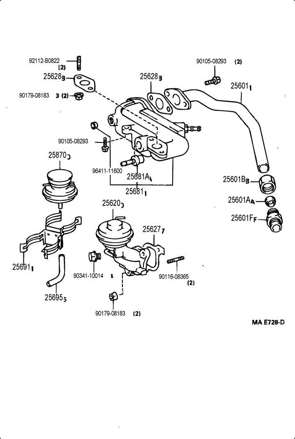 1994 TOYOTA Valve assy, egr vacuum modulator. Valve assy
