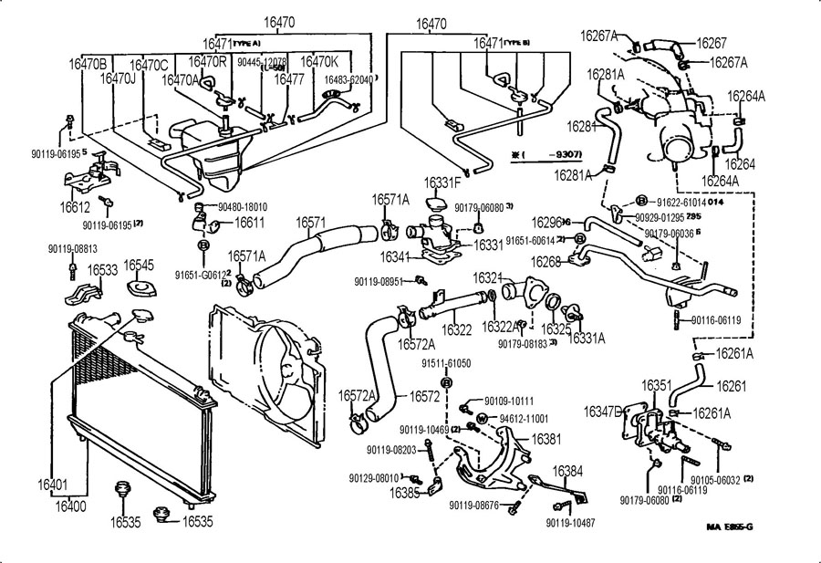 Camry Solara 4 Cylinder Engine Diagram Toyota AZ 2.4 Litre