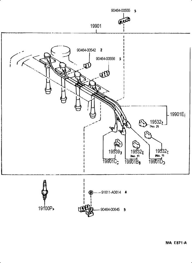 1993 TOYOTA MR2 Plug, spark. K16r-u11; k16r-u11