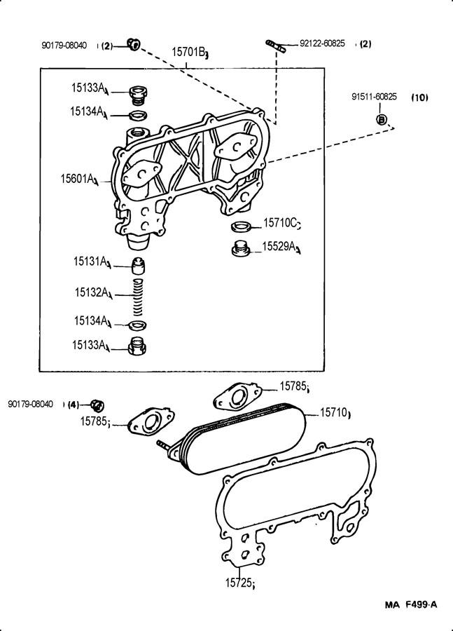 TOYOTA COROLLA Bolt, oil pressure adjusting; bolt, oil