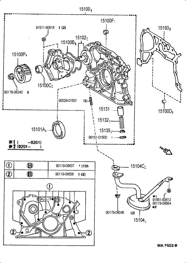 TOYOTA MR2 Gasket(for oil strainer). Gasket, cold start f