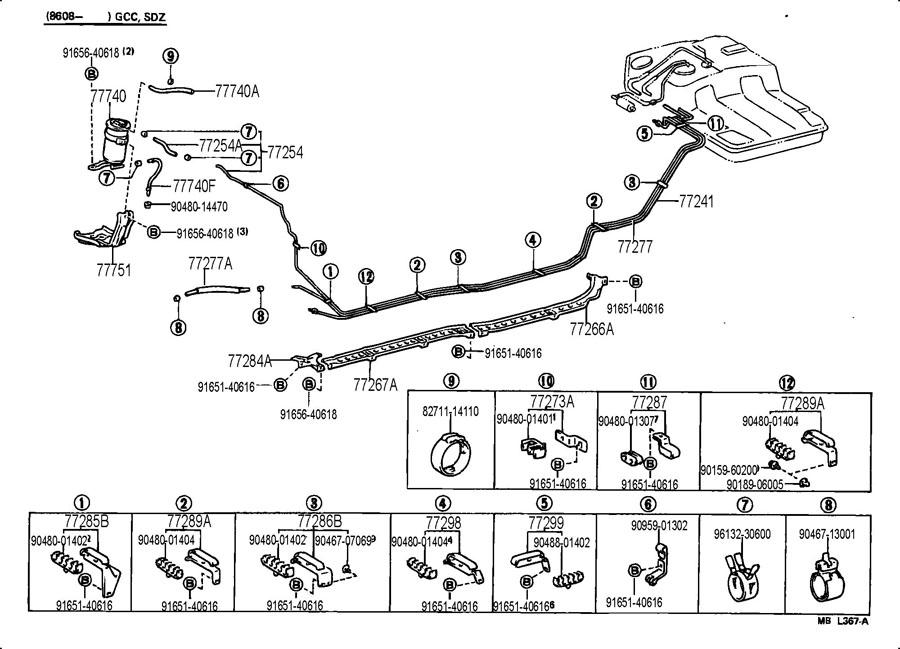 TOYOTA SUPRA Tube, fuel main; tube, fuel main, no.1
