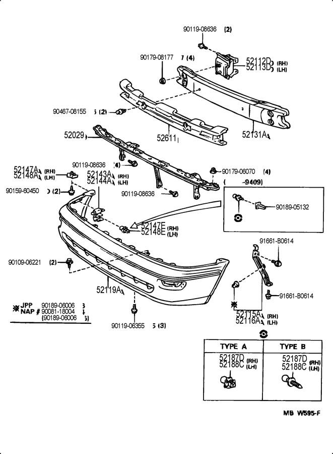TOYOTA COROLLA Extension, front bumper, rh. Extension sub