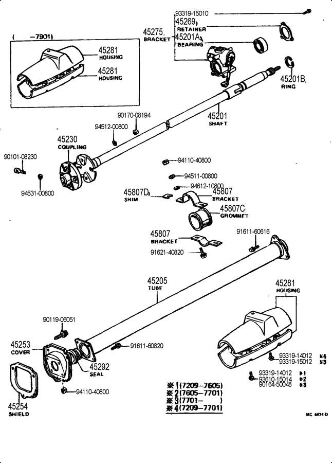 1972 TOYOTA LAND CRUISER Bearing(for steering main shaft