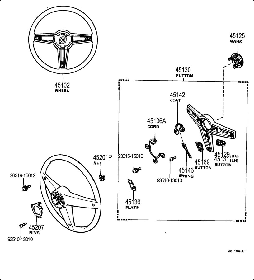 TOYOTA PICKUP Ring, horn contact. Olympic; special
