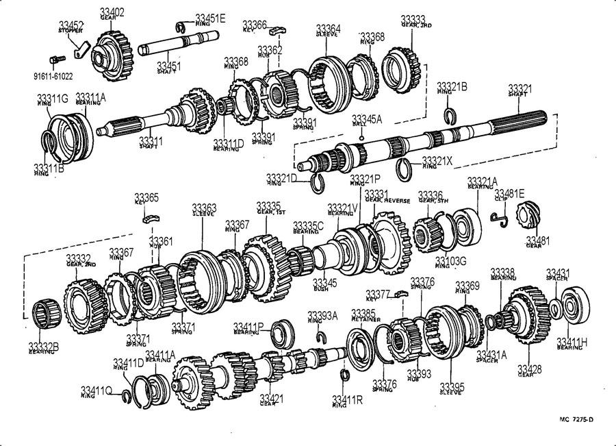TOYOTA SUPRA Bearing (for input shaft front). Bearing