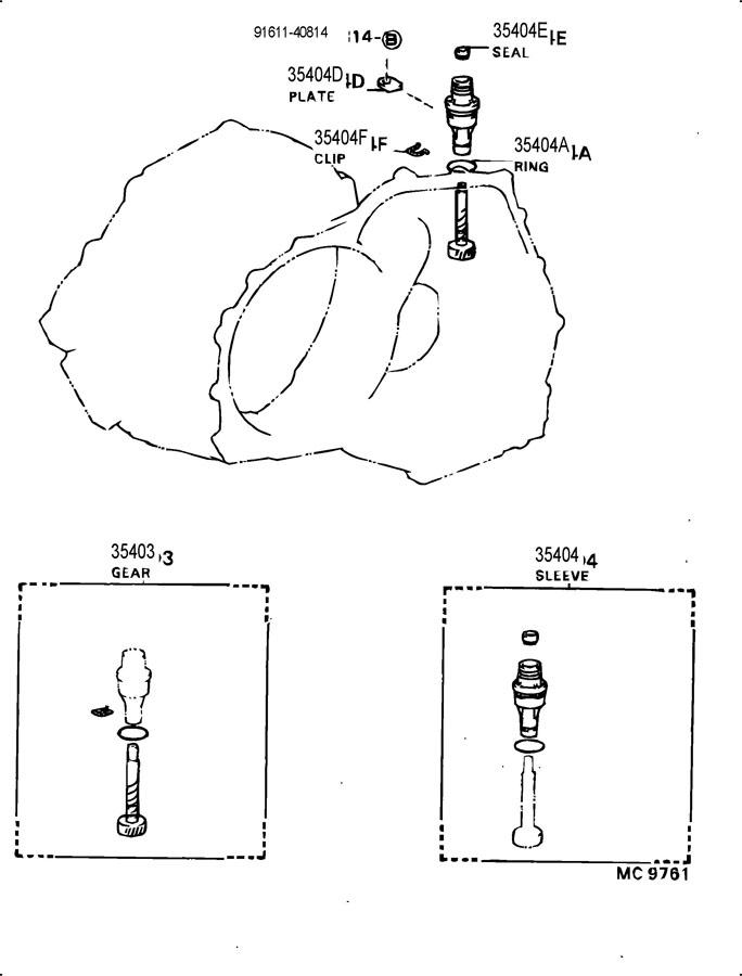 TOYOTA COROLLA Sleeve sub-assy, speedometer shaft (atm
