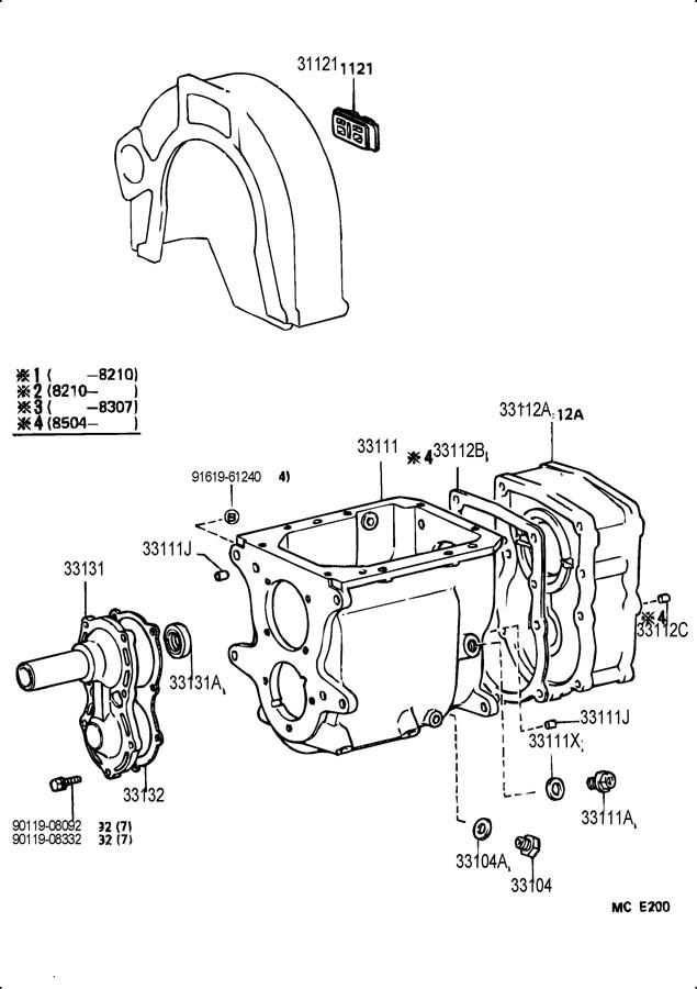 TOYOTA LAND CRUISER Gasket, transfer adapter; gasket