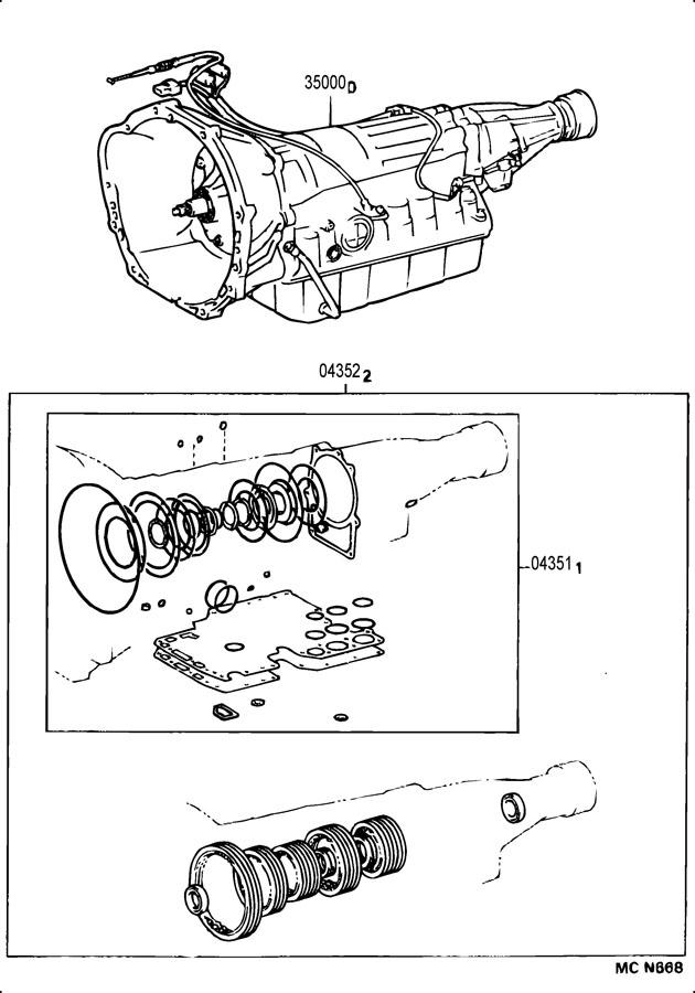 TOYOTA 4RUNNER Kit, automatic transmission overhaul