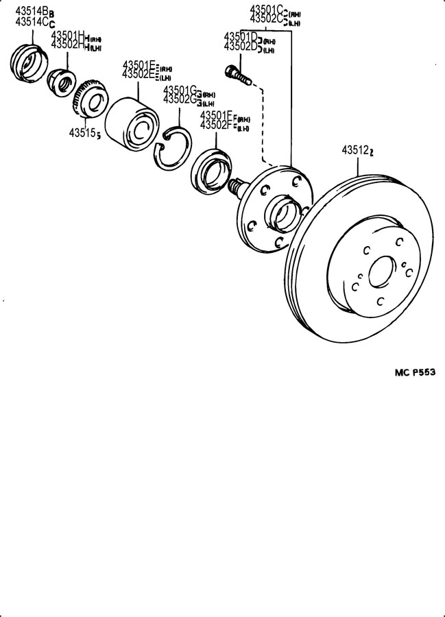 TOYOTA SUPRA Disc, front. Lh. Disc, fr lh. Rotors