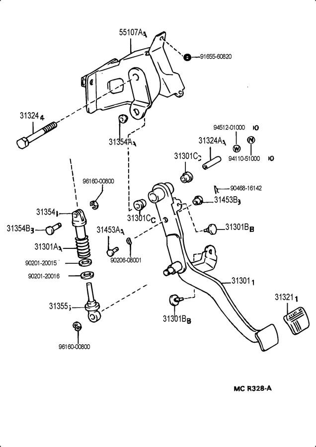 TOYOTA SUPRA Bush(for clutch master cylinder push rod