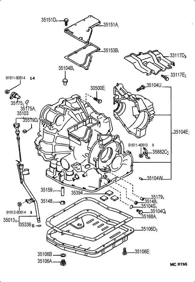 2011 Scion XB Plug. Drain. TRANSMISSION. Automatic. Pan