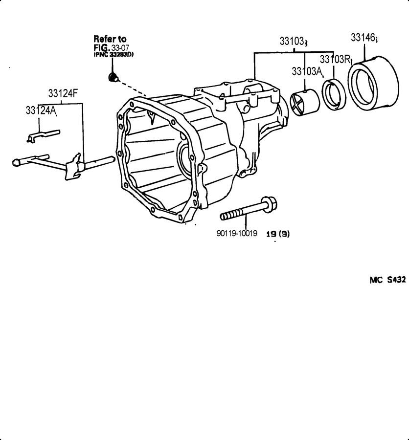2000 TOYOTA TACOMA Seal, oil (for automatic transmission