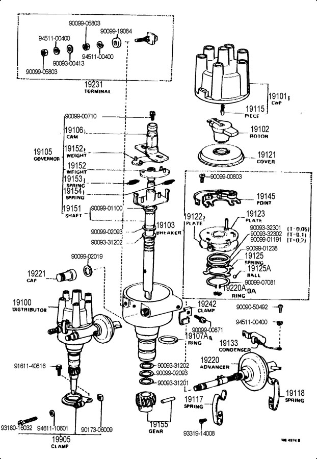 TOYOTA LAND CRUISER Breaker sub-assy, distributor