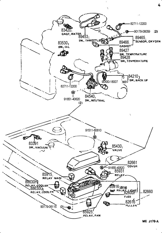 1988 TOYOTA COROLLA FX D (BASE) 1600CC, MANUAL Sensor