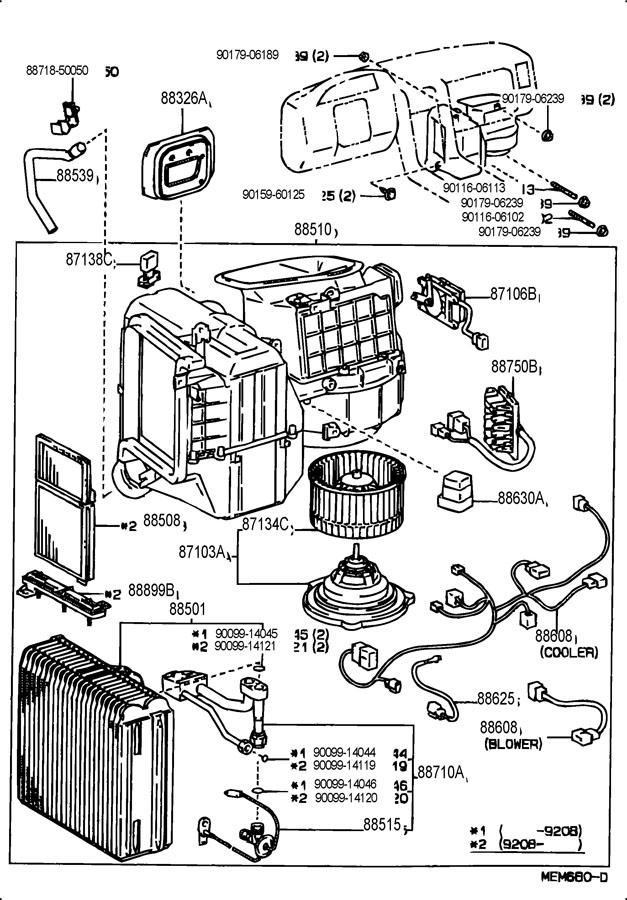 TOYOTA AVALON Resistor, blower; resistor, heater blower