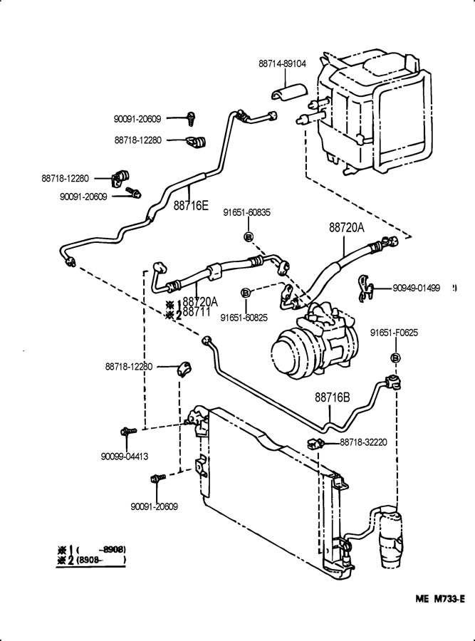 1994 TOYOTA 4RUNNER Pipe, cooler refrigerant liquid, e