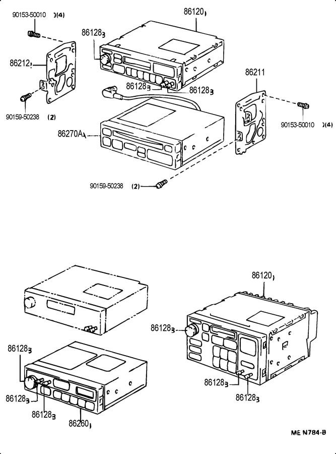 1992 TOYOTA Knob, radio receiver; knob, radio receiver