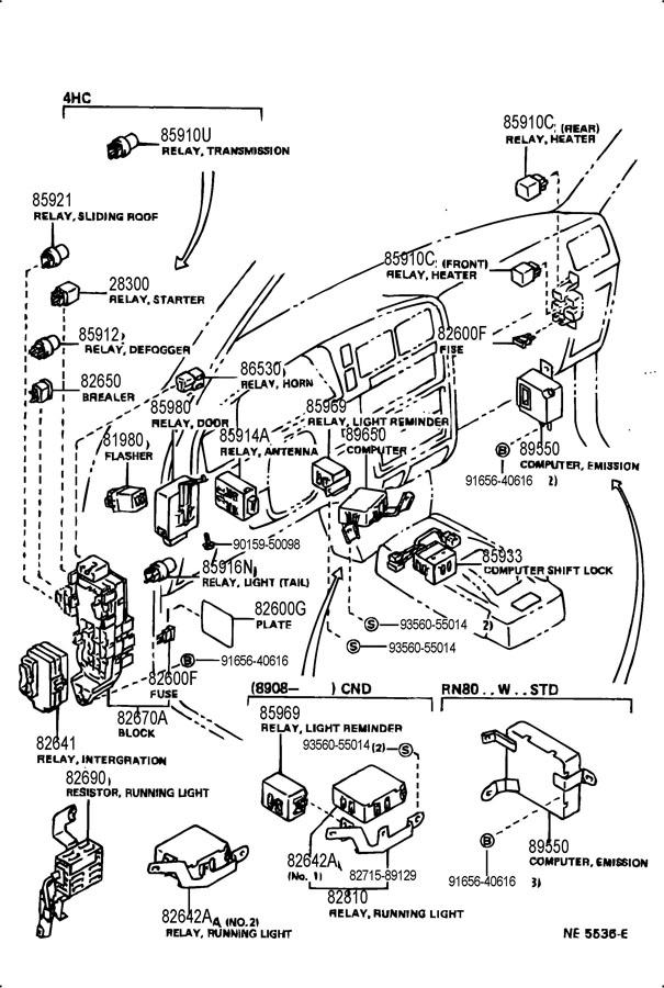 1990 Geo Prizm Fuse Box Wiring 1990 GMC S15 Fuse Box