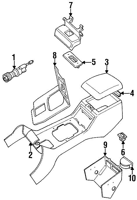 1993 Land Rover Defender 110 Ash Tray. Ashtray Assembly