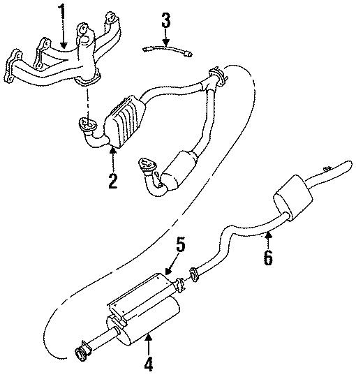 1993 Land Rover Range Rover Exhaust Manifold. Manifold