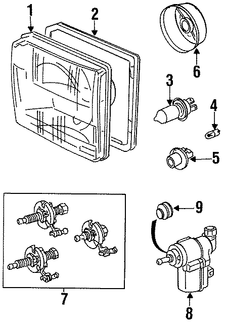 1997 Land Rover Discovery Headlight Restoration Kit. KIT