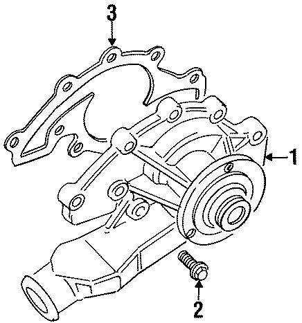 1998 Land Rover Discovery Bolt. Screw. Pump. Engine